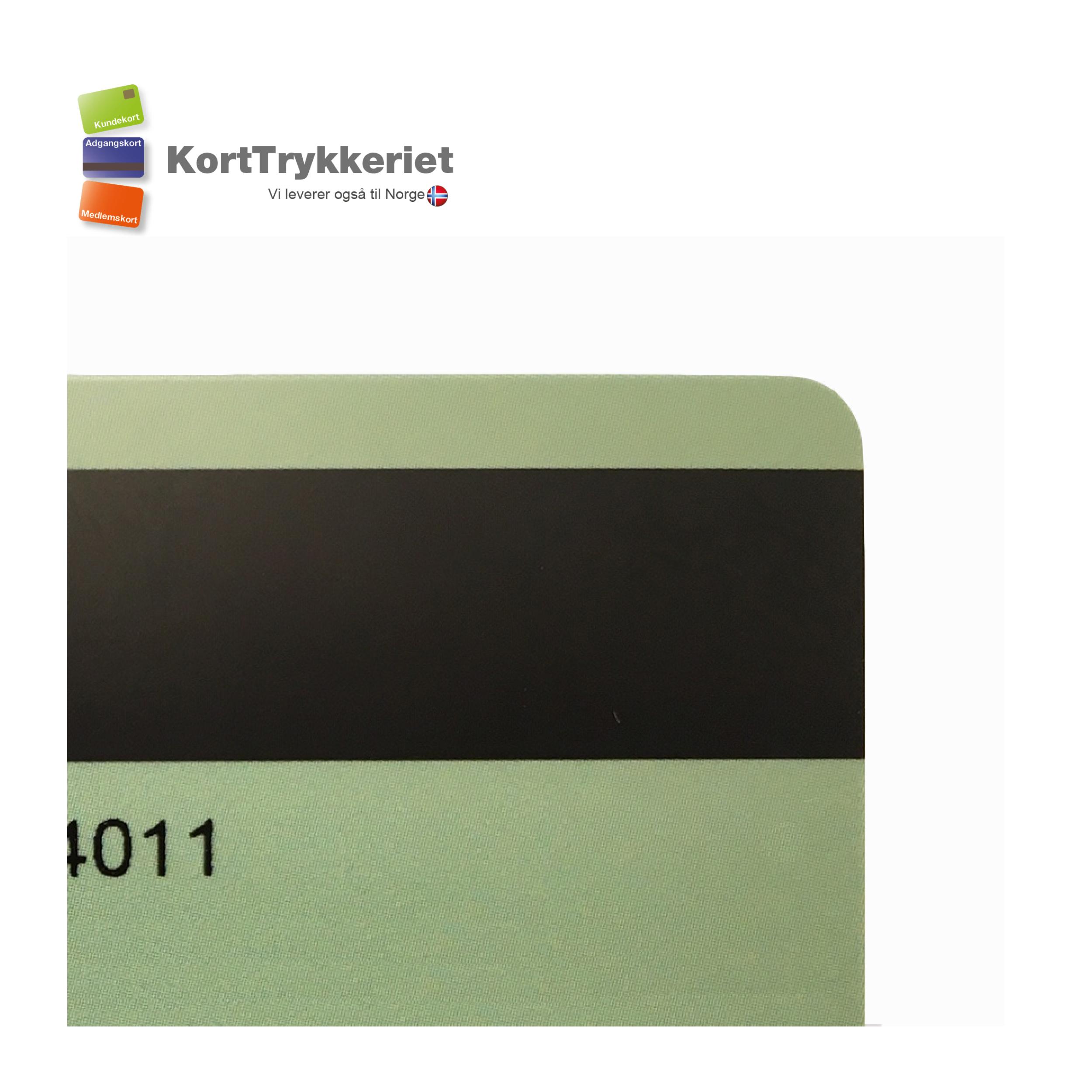 Plastkort med magnetstribe og nummer_Korttrykkeriet.dk