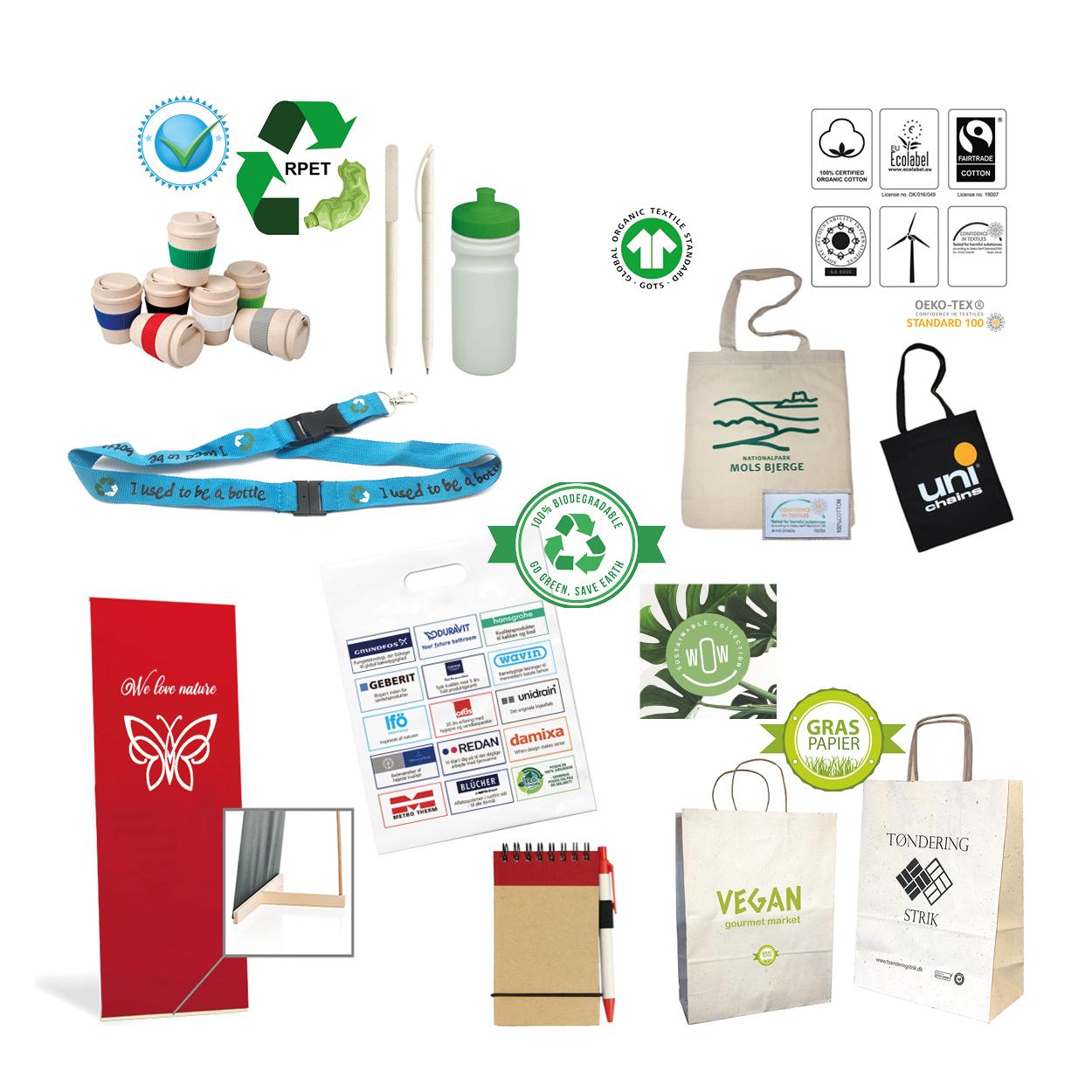 Miljørigtige produkter med eget logotryk. BetterGoGreen.dk